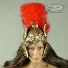 1/6 Scale Phicen, TBLeague Spartan Goddess of War Female Greek Helmet w Red Plum