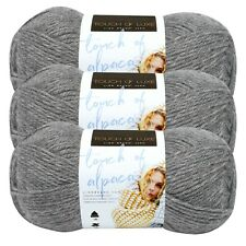 Lion Brand Yarn 674-150 Touch of Alpaca Yarn, Oxford Grey (Pack of 3 skeins)
