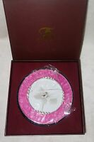 Taylor Avedon collectible Enamel Crystals Photo picture Frame round pink new