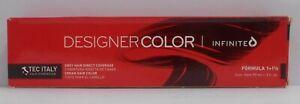 TEC ITALY DESIGNER COLOR INFINITE Grey Hair Direct Coverage Hair Color ~ 3 fl oz