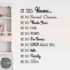 In This Home We Do House Rules Vinyl Wall Decal Sticker