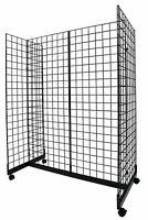 Black Grid Gondola Unit - Includes Base and Casters