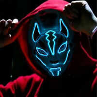 Halloween LED Lighting Mask Scary Glowing Fox Rave Purge Festival Cosplay Pa ty