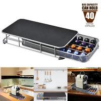 40 Pod Coffee Drawer Capsule Rack Holder For Nespresso Holder Dispenser Stand