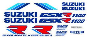 Kit 14 Stickers GSXR GSX-R 1100 Suzuki Type 90