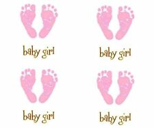 Footprints Baby Girl Foot Feet Pink Sole Toes Print Mrs Grossman Stickers