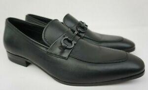 Salvatore Ferragamo Cremona Bit Black Leather Loafers Men's Shoes Size 8 E