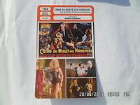CARTE FICHE CINEMA 1959 CRIME AU MUSEE DES HORREURS Michael Gough