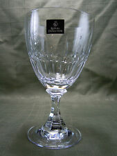 "ROYAL DOULTON STEMWARE ""ROYAL"" GOBLET LEAD CRYSTAL WITH TAGS NEVER BEEN USED"