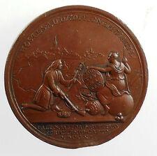 1711 Britain QUEEN ANNE FRENCH LINES PASSED BOUCHAIN TAKEN By Croker bronze 44mm