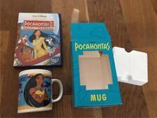 Disney Tetley Tea Pocahontas Mug in box Rare and DVD Christmas gkk