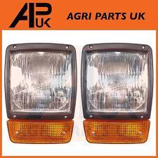 PAIR JCB Fastrac Dumpers Headlight Headlamp + Indicator assembly H4 Halogen Bulb