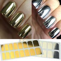 Nail Foil Gold Silver Tips Wrap Metallic Art Kit Adhesive Sticker FAST SHIPPING!