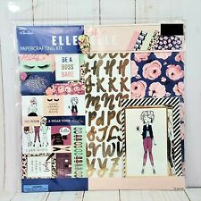 "12"" X 12"" Scrapbook Kit Elle oh Elle by Paper Studio Fashion Girl Scrapbooking"