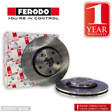 Ferodo Front Brake Discs Pair Fit Mando System For Hyundai iX35 1.7 CRDi