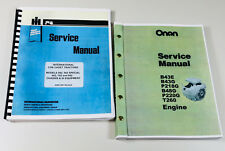 Cub Cadet 982 Chassis Garden Tractor Onan B48G Engine Service Manual Set