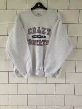 USA UNISEX URBAN VINTAGE RETRO MARL GREY PRO/COLLEGE SPORTS SWEATSHIRT SWEATER L