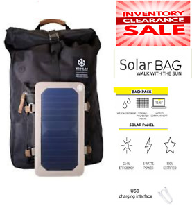 Portable Solar Charger Backpack - 7W Solar Panel Charger Hiking Camping Rucksack