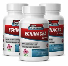 Detoxification Supplement - Echinacea Powder 400mg - Polysaccharides Extract 3B