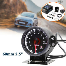 60MM Car Tachometer Gauge Meter 7 Color LED Pointer RPM Tacho Meter + Shif Light