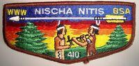 MERGED OA NISCHA NITIS LODGE 410 HIAWATHA COUNCIL PATCH OLD CLOTH BACK FLAP RARE