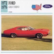 1972-1976 FORD GRAN TORINO Classic Car Photograph / Information Maxi Card