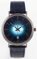 Cerruti 1881 Herren Uhr Watch flach dunkel blau metallic NEU CRA111SU03BL C250 !