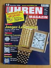UHREN-MAGAZIN Nr. 12 2000 - Uhren Zeitschrift, Uhrenheft, Magazin
