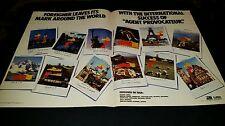 Foreigner Agent Provocateur Rare Original World Tour Promo Poster Ad Framed!