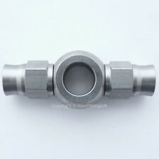 AN-3 to 3/8 UNF DOUBLE STRAIGHT STAINLESS STEEL BANJO EYE Brake Hose Fitting