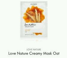4 × Oriflame Love Nature Creamy Mask Oat Soothing Dry Skin, 4×10ml New