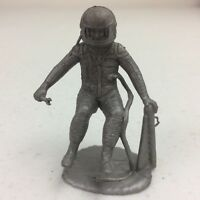 Vtg 1960's Marx Operation Moon Base Silver Astronaut Plastic Figure Toy