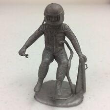 Vtg 1960's Marx Operation Moon Base Silver Astronaut Plastic Figure Toy