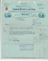 Low & Duff Limited Monifieth Nr Dundee 1940 Plumbers Merchants Invoice Ref 34152