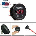 Red Led Digital Display Voltmeter Car Motorcycle Voltage Gauge Waterproof 1224v