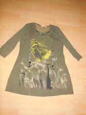 BIBA Long Tunika Bluse/ Shirt XL 44/46 Stretch Khaki wNEU Ungetragen