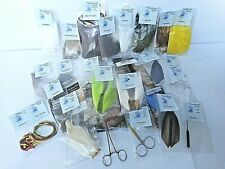 Huge Fly Tying Supplies Lot  Fly Fishing Materials Fur, Feathers, Saddle, Tools