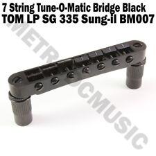 7 String Tune-O-Matic Bridge BM007 Black Sung-il Korea for LP SG 335 TOM NE
