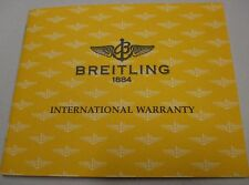 Breitling Chronomat Chronograph Watch Warranty Certificate for Ref. A13050/A352