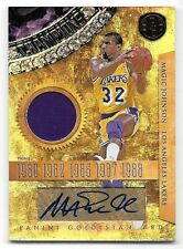 10/11 Panini Gold Standard Gold Rings #1 Magic Johnson Jersey Autograph #2/5