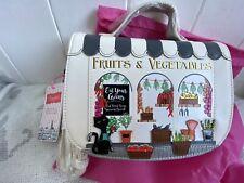 Vendula London Fruit And Veg Greengrocers Mini Saddle Bag Handbag Crossbody