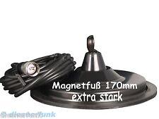 CB FUNK MAGNETFUß extra stark 170mm DV 27 Anschluss für DV Antennen TOP Qualität