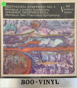 RCA VICS 1102  : BEETHOVEN Symphony No.4 etc : MONTEUX Classical Vinyl Record EX