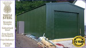 Steel Large Garage/Biomass Custom Shed