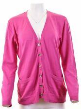 RALPH LAUREN Womens Cardigan Sweater Size 16 Large Pink Cotton  JF07
