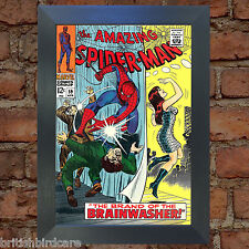 SPIDERMAN Comic Cover 59th Edition Cover Reproduction Vintage Wall Art Print #11