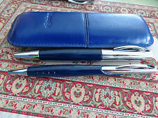 Rotring initial estilográficas M-kugenschreiber set dark blue - + estuche de cuero