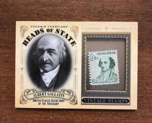 Albert Gallatin 2020 Goodwin Heads State Vintage Stamp HS-41 Treasury Secretary