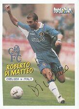 Roberto DI MATTEO CHELSEA 1996-2002 originale firmato a mano Rivista di taglio