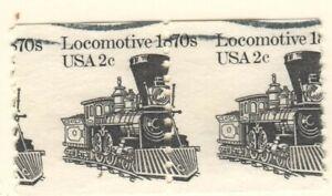 US EFO Scott #1897A 2c Locomotive Coil Pair USED, major Mis-perf!
